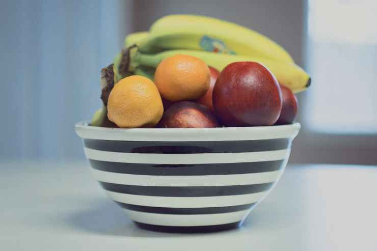 apples assorted bananas bowl