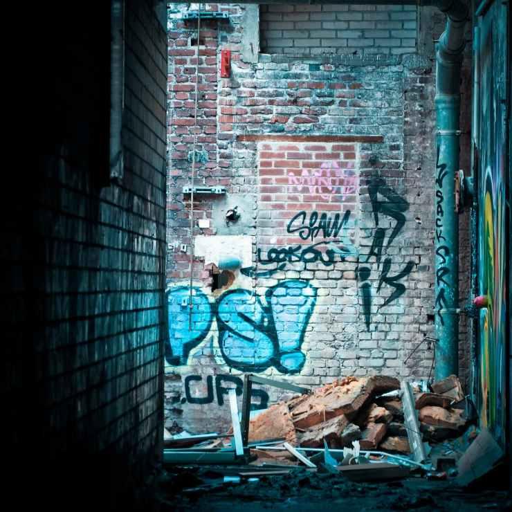 graffiti on brickwall