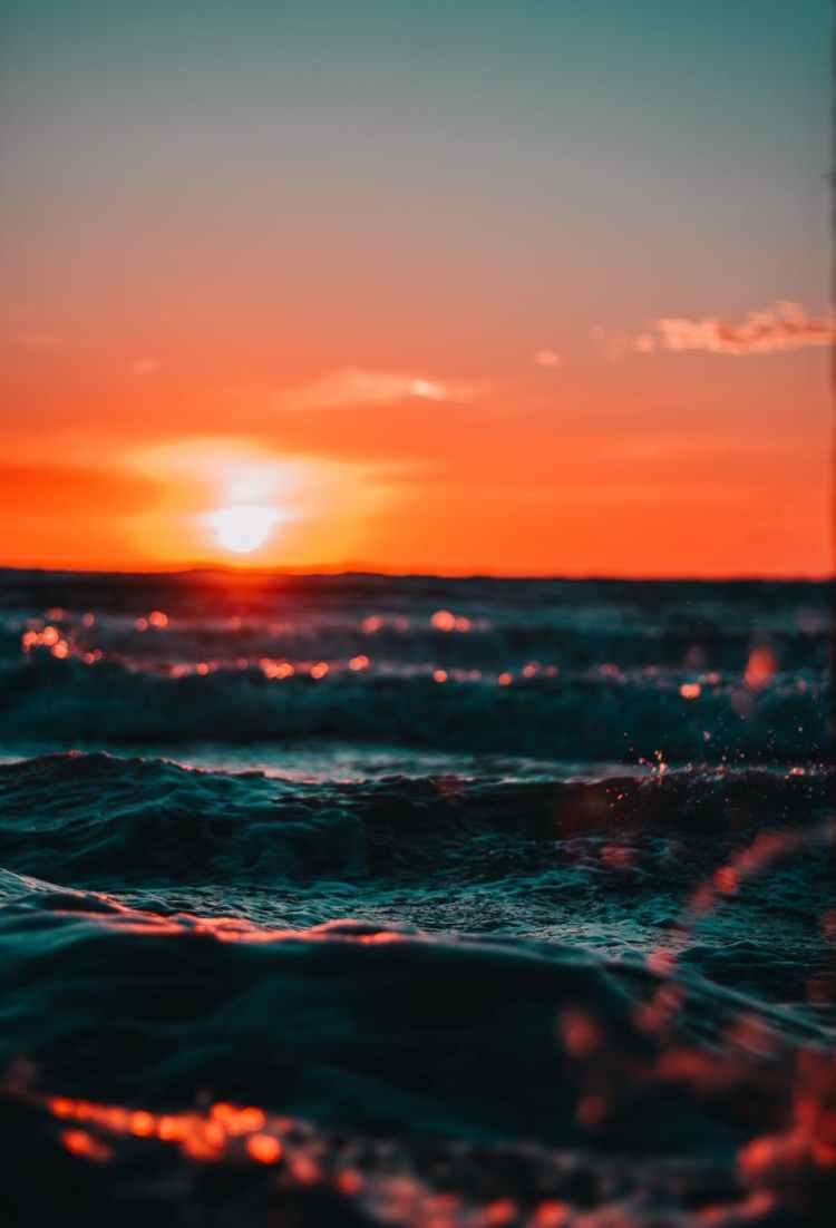 clouds dawn nature ocean